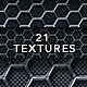 Metal Hexagon and Carbon Fibre Textures