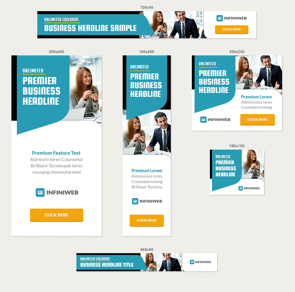 multipurpose agency company html5 banner ad templates by infiniweb screenshot1 jpg