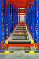Warehouse storage inside shelving metal pallet racking systems