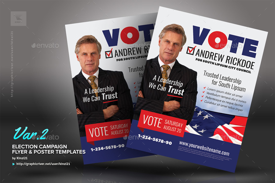 Campaign Flyer Template Nicetobeatyoutk - Political campaign brochure template
