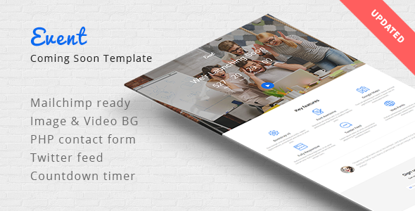 Event - Coming Soon Responsive Template