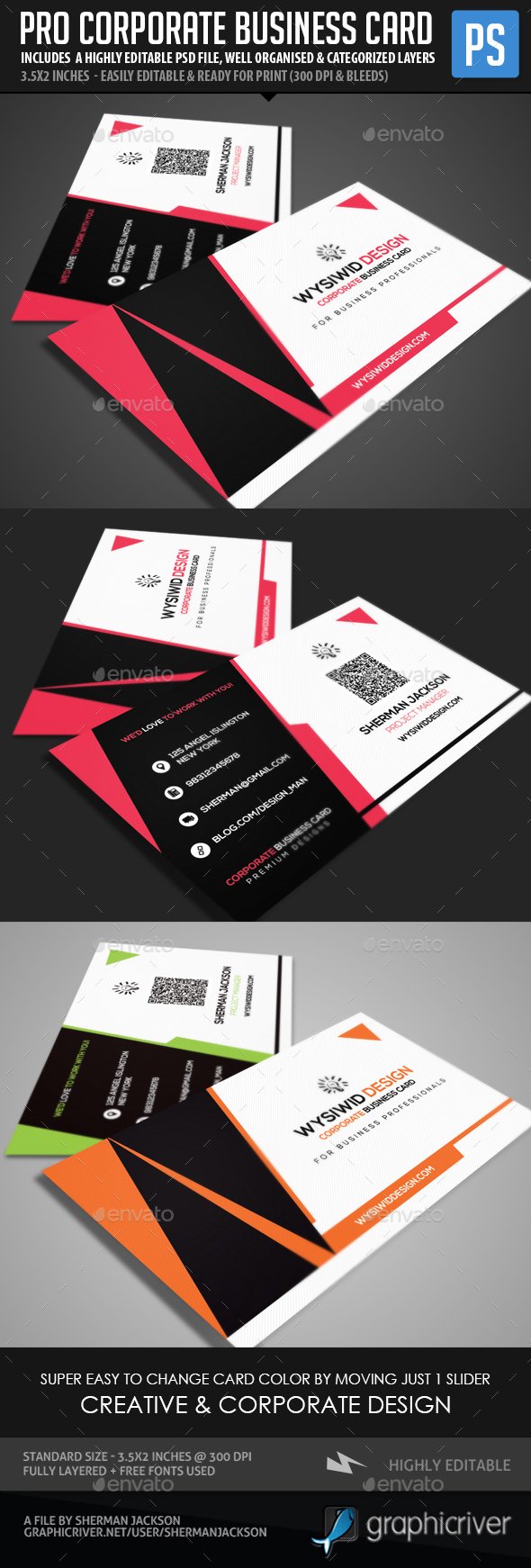 Creative Business Cards Graphics, Designs & Templates