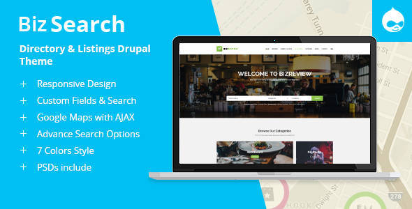 BizSearch - Directory & Listing Drupal Theme
