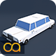 Low Poly Limousine Car