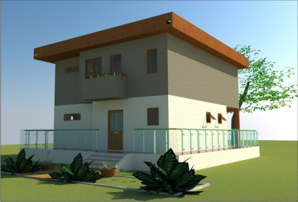 Wood Passive House - 3DOcean Item for Sale