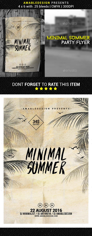 Minimal Summer Flyer/Poster