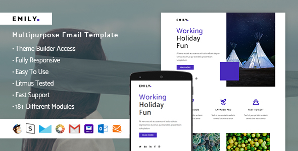 Image of Emily – Responsive Email + StampReady Builder