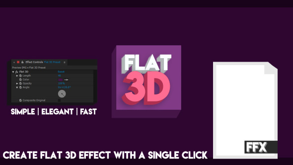 VideoHive Flat 3D After Effects Preset 16918478