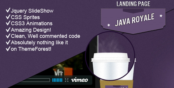 Java Royale - Professional Landing Page