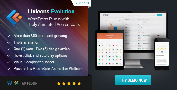 Download LivIcons Evolution for WordPress - The Next Generation of the Truly Animated Vector Icons nulled download