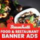 Food & Restaurant Banners HTML5 - Google Web Designer