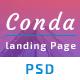 Conda App Landing Page PSD Template