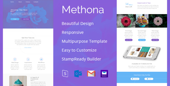 Download Methona - Creative Email Template nulled download