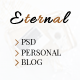 Eternal - Personal Elegant Blog PSD