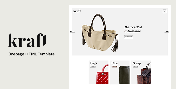 Kraft - Onepage HTML Template
