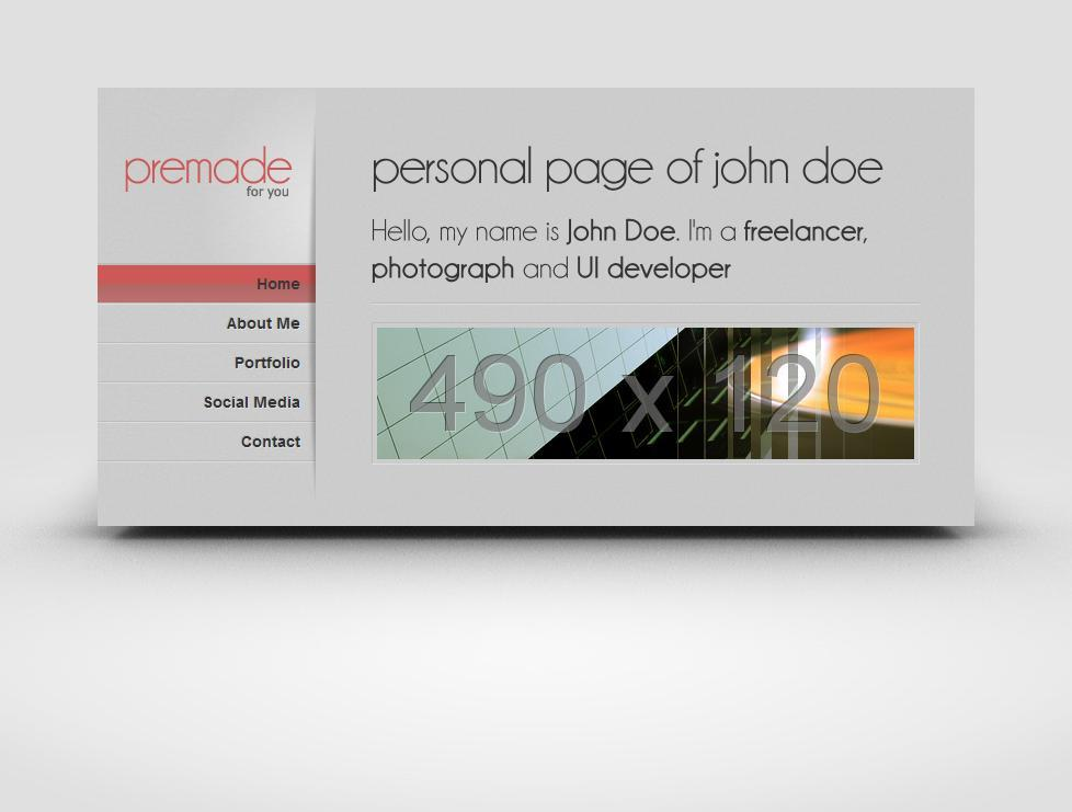 Premade for You - Personal vCard Template