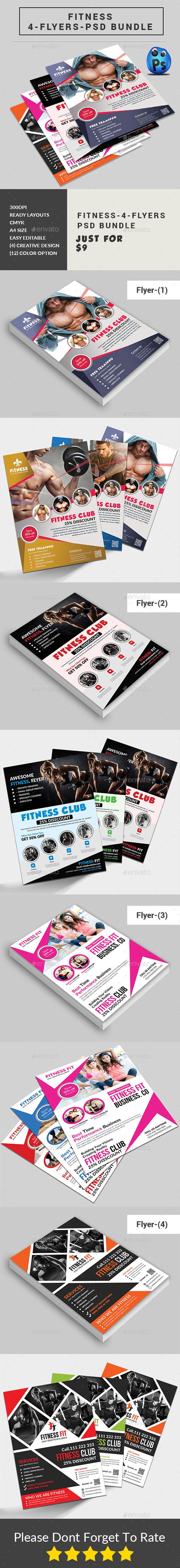 Health, Sports, Fitness Flyers Bundle