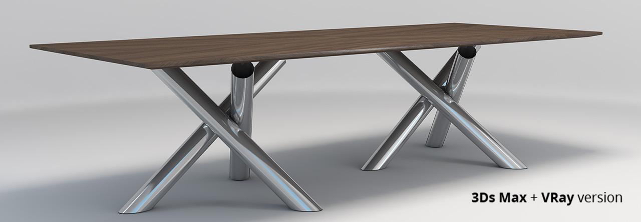 Minotti Van Dyck dining table by widhimuttaqien 3DOcean : Preview3DsMax002 from 3docean.net size 1280 x 444 jpeg 94kB
