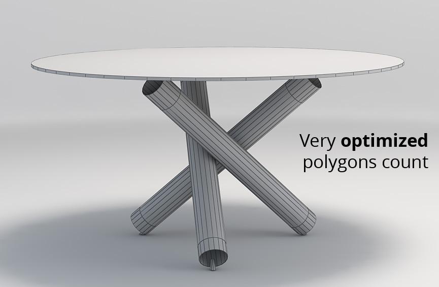Minotti Van Dyck dining table by widhimuttaqien 3DOcean : wire002 from 3docean.net size 865 x 565 jpeg 79kB