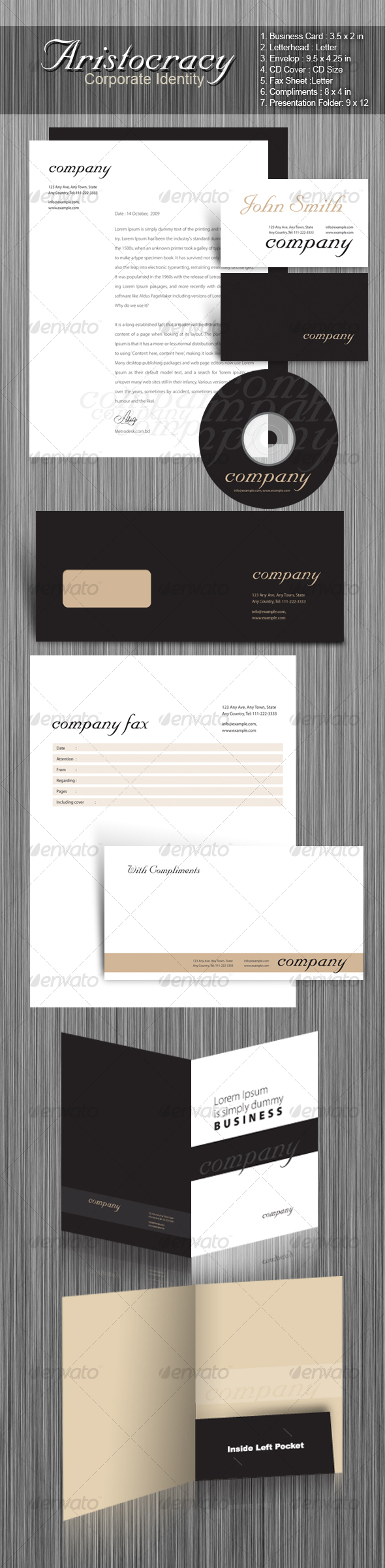 GraphicRiver Aristocracy Corporate Identity 66061
