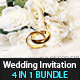Modern Wedding Invitation Bundle (4in1)