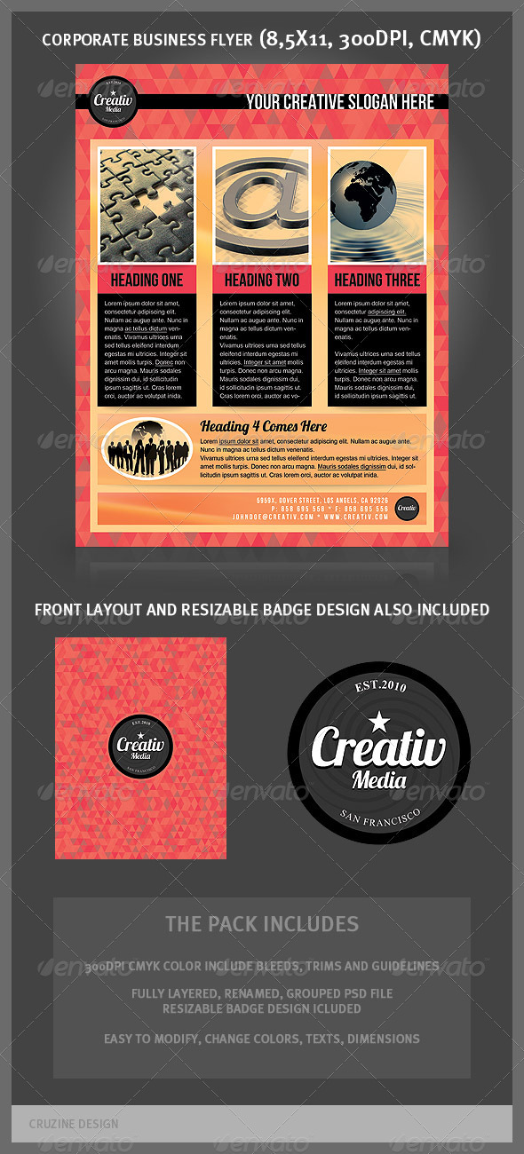 Corporate Business Flyer - Medial Agency - Corporate Flyers