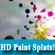 Colourful HD Paint Splat on White BG - VideoHive Item for Sale