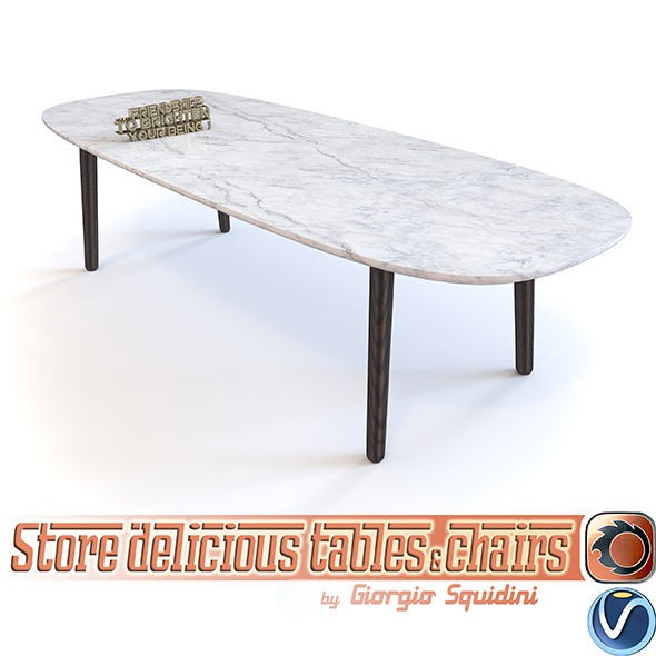 Poliform Mad Table - 3DOcean Item for Sale