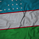 Ruffled Flag of Uzbekistan