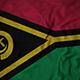 Ruffled Flag of Vanuatu