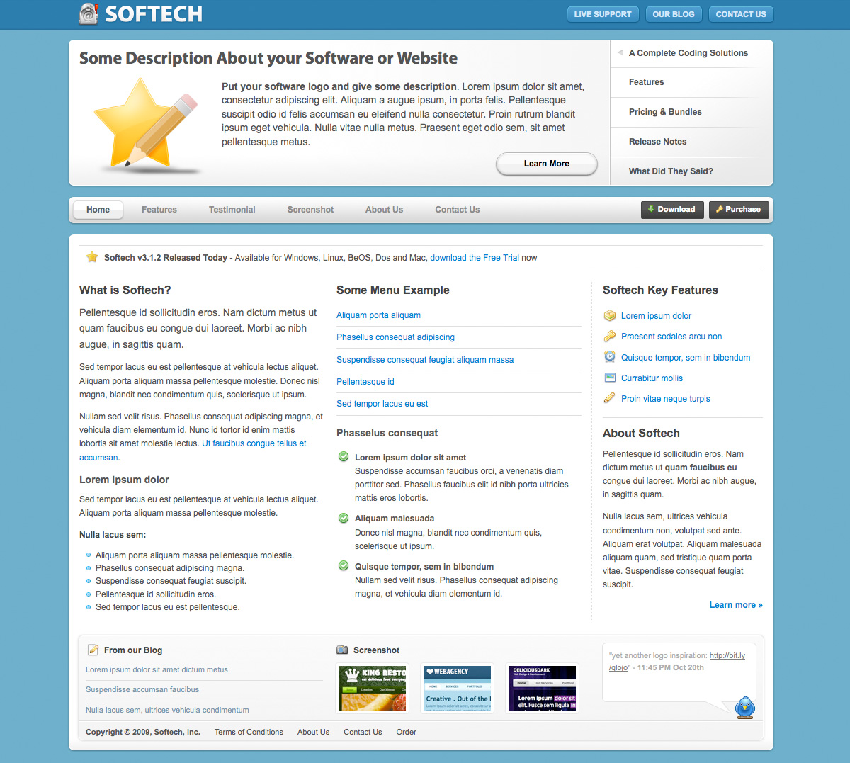 Softech - Software and Hosting Template - Softech Software and Hosting Template - Homepage