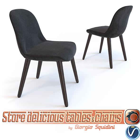 3DOcean Poliform Mad Chair 16996332