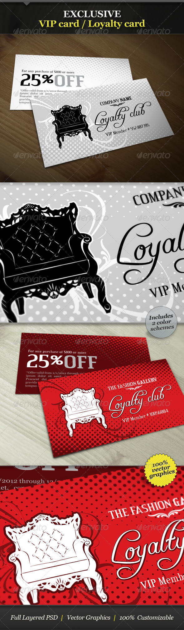 Exclusive VIP Card / Loyalty Card - Loyalty Cards Cards & Invites