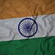 Ruffled Flag of India