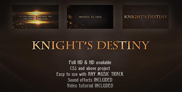 VideoHive Knight's Destiny Cinematic Trailer 1693989