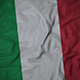 Ruffled Flag of Italy