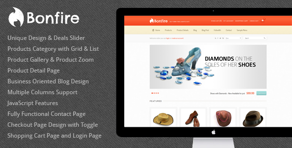 ThemeForest Bonfire eCommerce HTML Theme 1601803