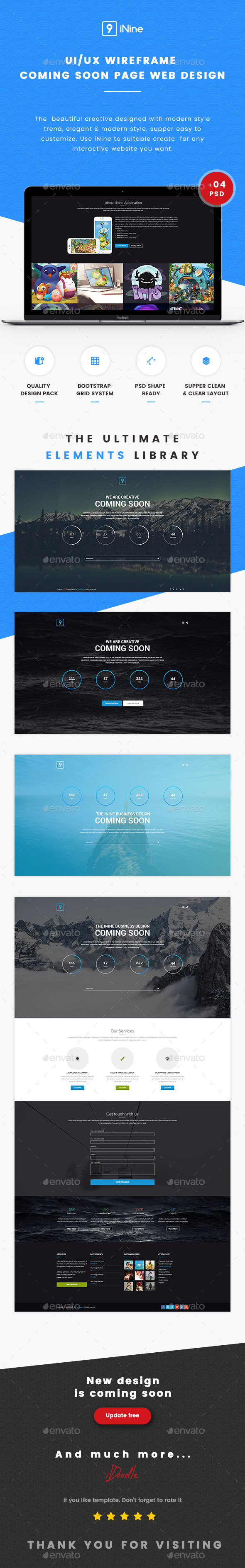 Web Slider 3 Variations Download PSD
