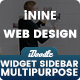 UI Kits Wireframe Kits Widget Sidebar - 03 PSD
