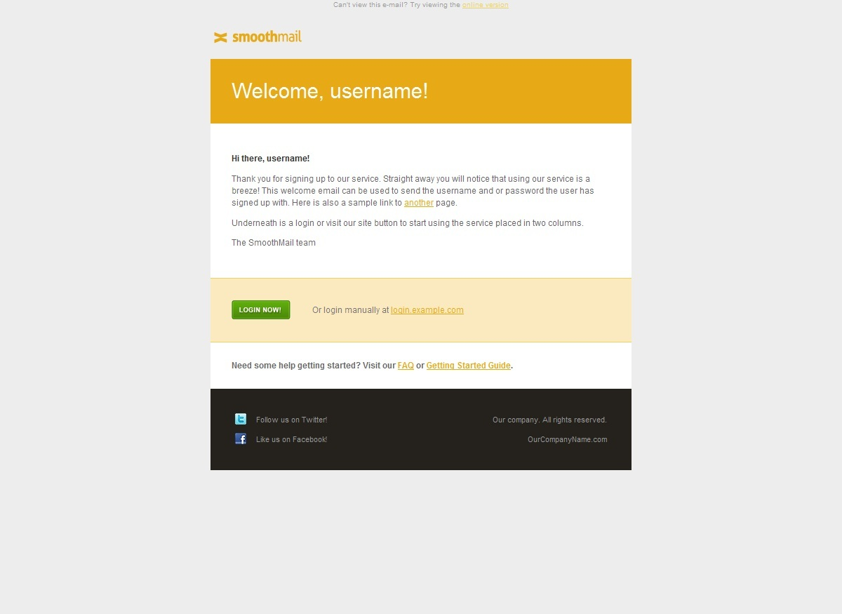 SmoothMail E-Mail Template