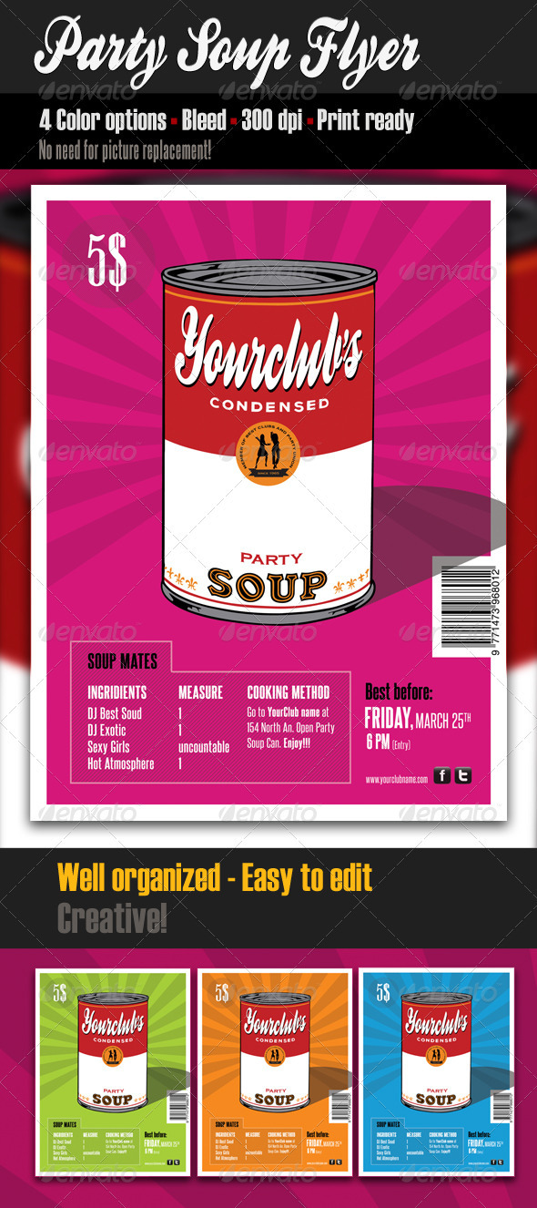 GraphicRiver Party Soup Flyer Template 1694178