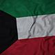 Ruffled Flag of Kuwait