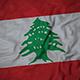 Ruffled Flag of Lebanon