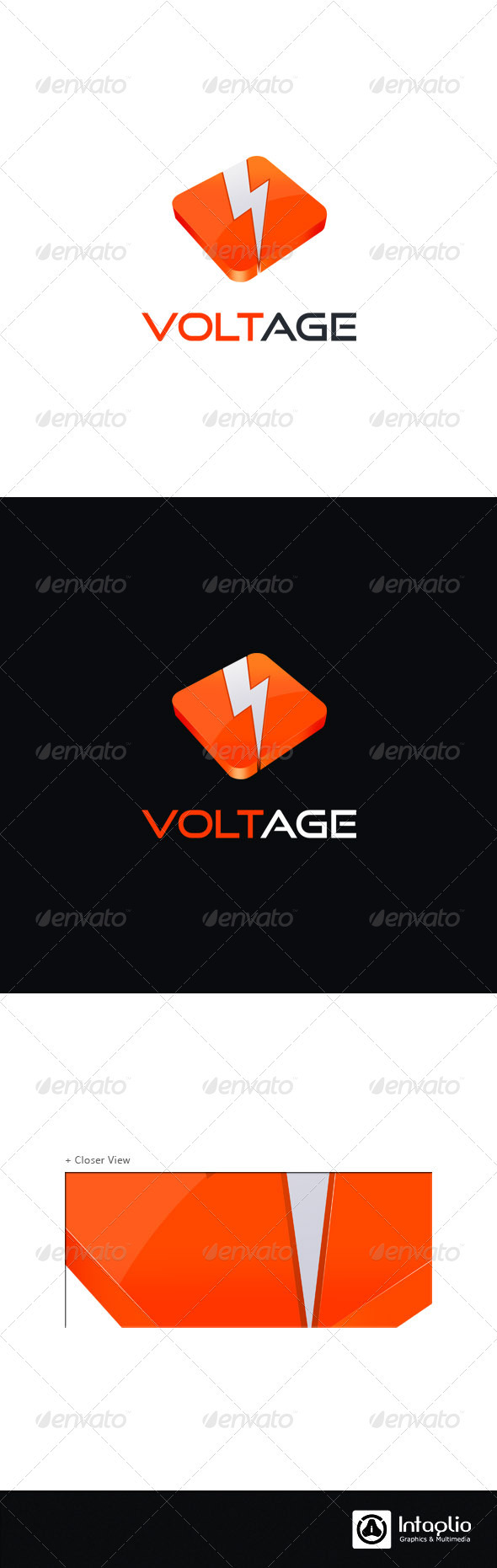 Creative 3D Logo - Voltage - 3d Abstract