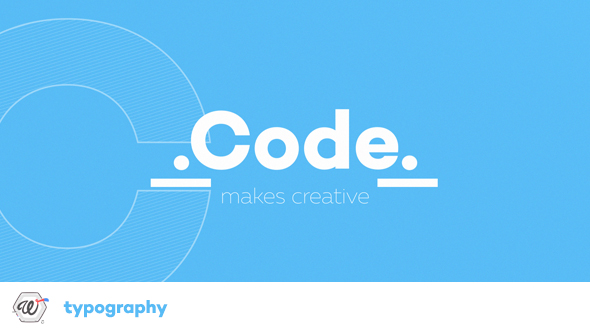 Code Typography-Videohive中文最全的AE After Effects素材分享平台