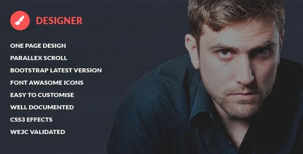 Designer - Presonal Bootstrap HTML5 Template
