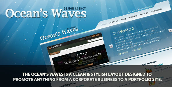 Ocean's Waves HTML Templates