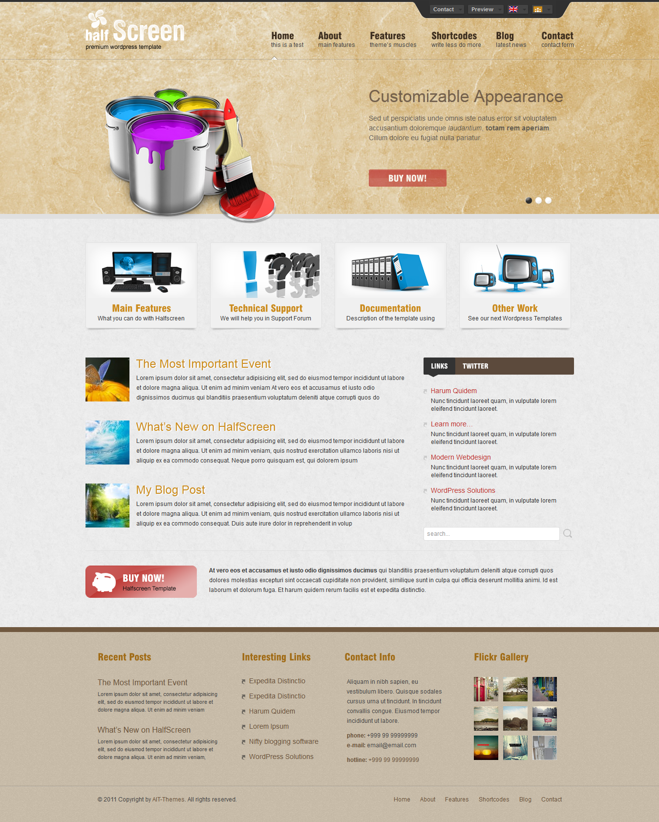 Halfscreen Premium Corporate & Portfolio WP Theme
