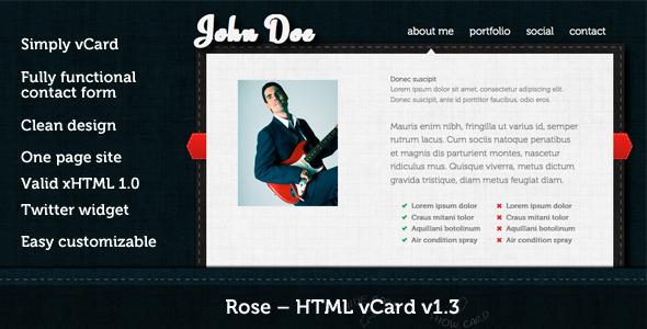Rose - HTML vCard