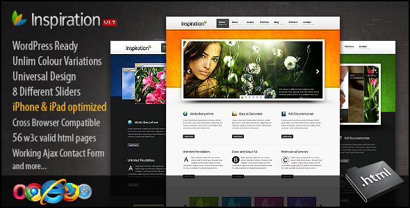 ThemeForest Inspiration Premium xHTML CSS Template 539797